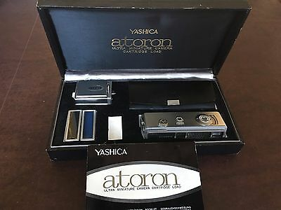 Yashica Atoron Ultra Miniature Vintage Spy Camera with Manual and Accesosories