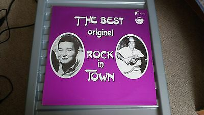 The Best Original Rock In Town White Label - V/a Mike Moore/don Ruby  Record
