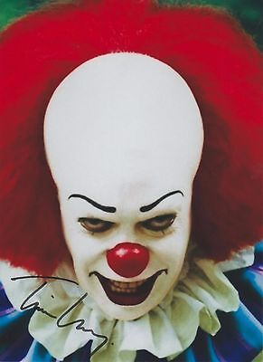 """Tim Curry (1990) """"It"""" Pennywise the Dancing Clown EXTREMELY RARE SIGNED RP 8x10"""