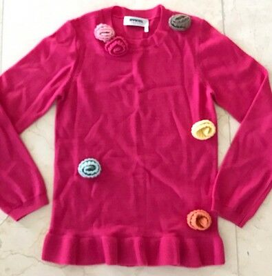 Rykiel Enfant By Sonya Rykiel Girls Pink Wool Sweater Top Size 10y