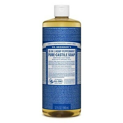 Dr Bronners - 18 in 1 Pure Castile Peppermint Liquid Soap
