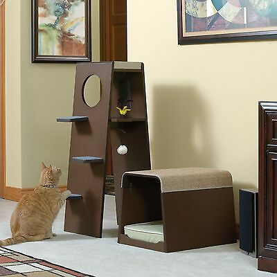 Sauder Woodworking Modular 42 in. Modern Cat Tower