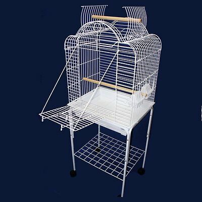 YML Scallop Playtop Bird Cage, White, Cage with Stand