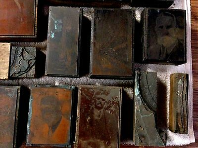 Antique Printing Press Plates  Lot Sale  FREE SHIPPING