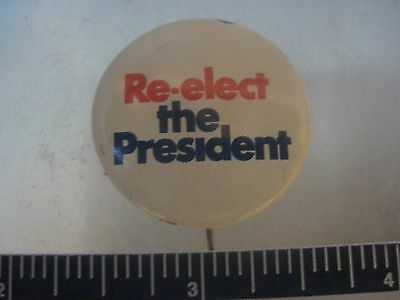 Richard Nixon Original 1972 Re-elect The President Pinback