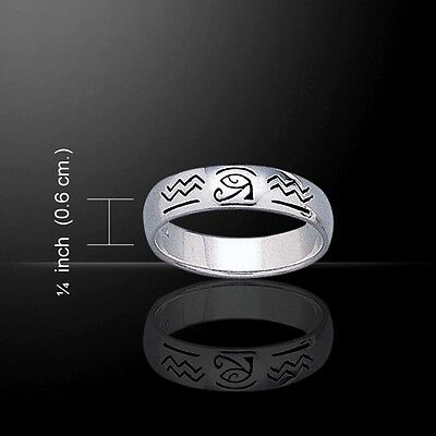 Eye of Horus .925 Sterling Silver Ring by Peter Stone