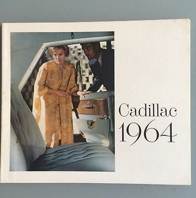 1964 Cadillac Coupe DeVille Eldorado Fleetwood Convertible Sales Brochure Mint