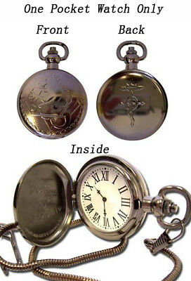 **License** Fullmetal Alchemist State Alchemist Metal Cosplay Pocket Watch #7705