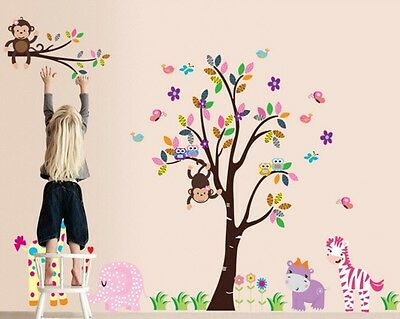 Animal Wall Sticker Vinyl Decal Decor Removeable Nursery Kids Art Baby