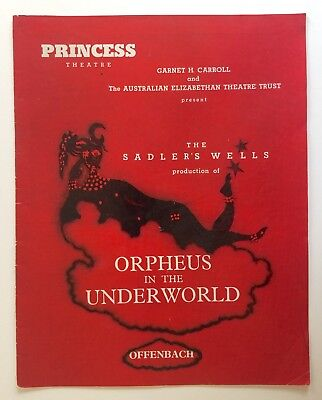 Orpheus In The Underworld 1962 Princess Theatre Program Melbourne Suzanne Steele