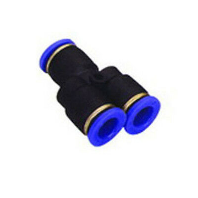 """10 Pieces New  Pneumatic 1/4"""" """"Y"""" push to connect one touch fitting"""