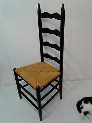 Vintage Ladderback Caned Chair
