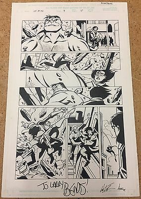 ULTIMATE MARVEL TEAM-UP #3 Page 10 Original Comics Art By PHIL HESTER Spider-Man
