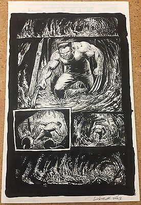 PUNISHER #16 Page 12 Original Marvel Comics Art By DARICK ROBERTSON! WOLVERINE!