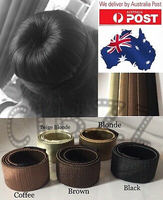 3x Hair Bun Maker Donut Styler Strap Tools Hairagami French Wrap Twist Snap