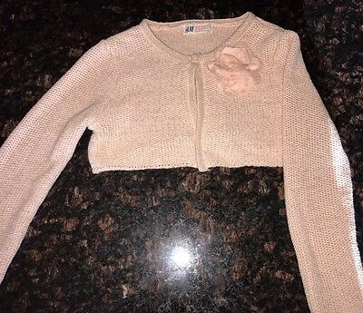 H & M GIRL'S SHRUG CROPPED CARDIGAN SWEATER Size 6 8 Years