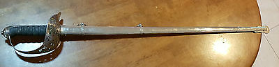 1897 Pattern Infantry Officers sword with steel dress scabbard