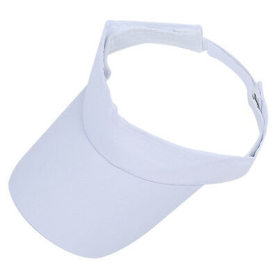 Unisex Adjustable White Sun Sports Visor Tennis Golf Hat Cap Sweatband BF