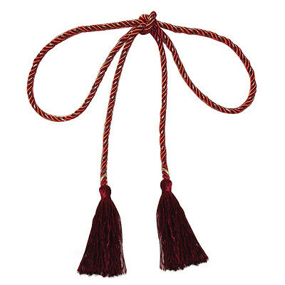 135cm Tassel Curtain tied rope(Jujube red and gold) N4F7