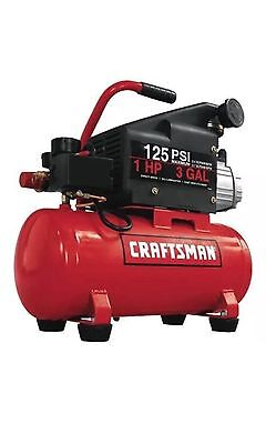Craftsman 15310 3 Gal Portable Air Compressor 125Psi 1 Hp New In Box Tested Once