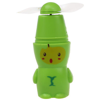 Cute & Adorable Battery-Operated Fruit Style Mini Fan - Green Apple BF