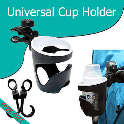 Universal Cup Holder Fit Baby Stroller Bike Bicycle Car Buggy Wheelchair Walker