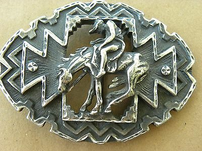 EJC Belt Buckle End of the Trail 1995 Horse Indian