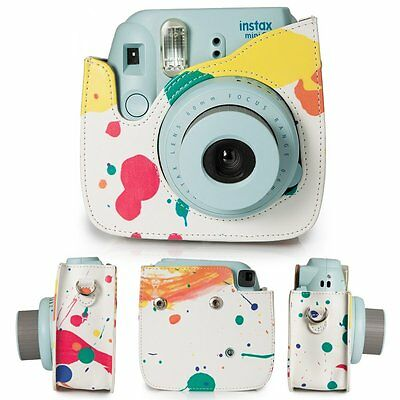Caiul 7In1 Fujifilm Instax Mini 8+ Camera Accessories Bundles Kit -Colorful case