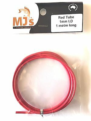 1 metre of 1.0mm RED Tubing. Hard wearing PVC. Great for rigging and whiting