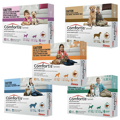 Comfortis Flea Tablets Chews Dogs Cats All Sizes Treatment Extremely Effective