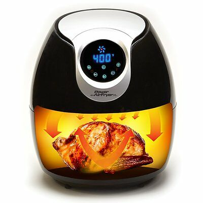 New 5.3 Quart Power AirFryer XL Super Heated Air Fryer with Recipe Book and Pan