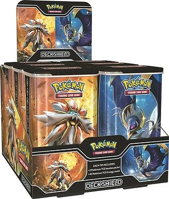 Pokemon Elite Trainer Deck Shield Tins Trading Card Game Lunala Solgaleo New TCG