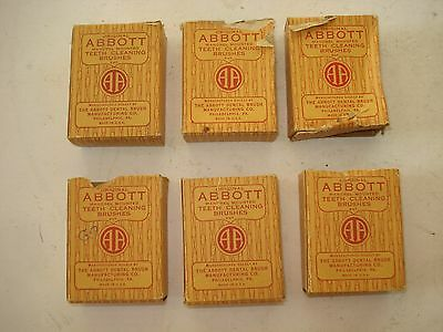 35 total ABBOTT BRISTLE MOUNTED BRUSHES - new old stock = PRICED 2 SELL