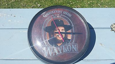 Waylon Jennings Greatest Hits Album Wall Clock Works!