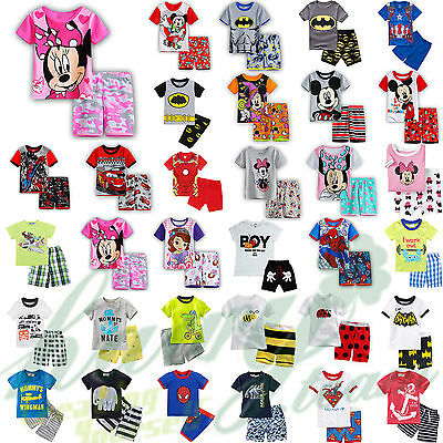 Baby Kids Girls Boys Short Sleeve T-shirt Shorts Pant Outfits Sports Set Clothes