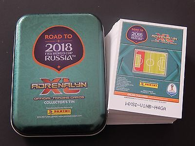Road To World Cup 2018 - Pocket Tin + Bundle / Job Lot Of 100 Cards Adrenalyn Xl