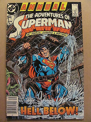 Adventures of Superman Annual #1 DC Comics 1987 Newsstand Edition