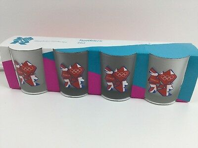 """Brand New London Olympic 2012 Set of Tumblers (3.5"""") x4 - Rare Licensed Item"""