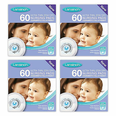 Lansinoh Disposable Nursing Pads Breathable Super Absorbent Breast Pads 4x60 pcs