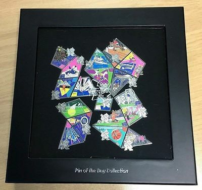 London Olympics 2012 Day Of The Games 18 Pin Badge Boxset / Framed