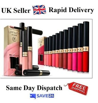 !!RRP£10.99!! Max Factor Lipfinity Lip Colour 24 Hrs - Choose Your Shade
