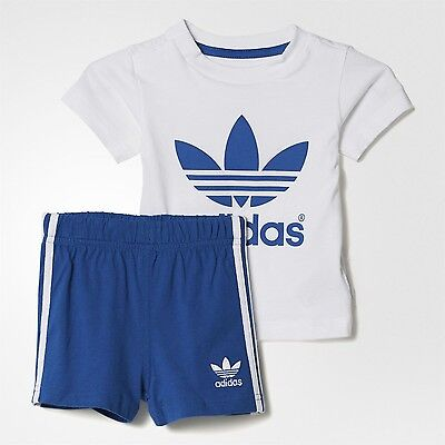 adidas Originals boys baby/infant 3 stripe shorts & top set. Summer set. 0-6Y.