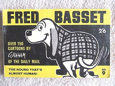 FRED BASSET BOOK No. 9: 1960s, CARTOONS BY GRAHAM (DAILY MAIL)