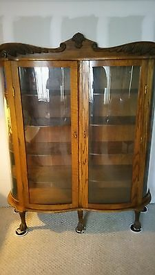 Vintage Antique wooden curio cabinets (2 of them)