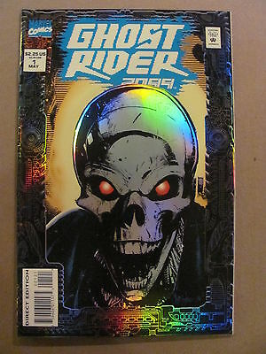 Ghost Rider 2099 #1 Marvel Comics 1994 Series Prismatic Foil Cover 9.4 Near Mint