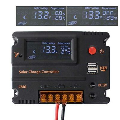 20A LCD Solar Panel Battery Regulator Charge Intelligent Controller 12-24V  AE