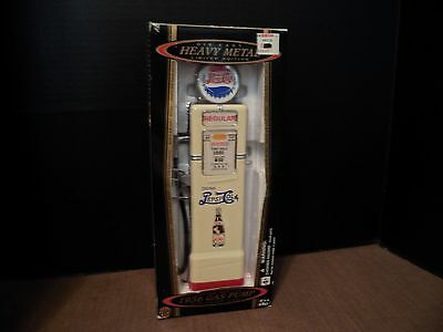 Die Cast Golden Wheel Custom Replica 1936 Gas Pump Pepsi Bank w On Off Light NEW