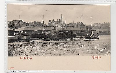 ON THE CLYDE: Glasgow postcard (C27026)