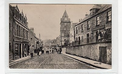 HIGH STREET, LOOKING EAST, SOUTH QUEENSFERRY: West Lothian postcard (C26696)