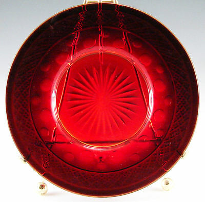 Imperial Glass Cape Cod Royal Ruby 7 inch Salad Plate